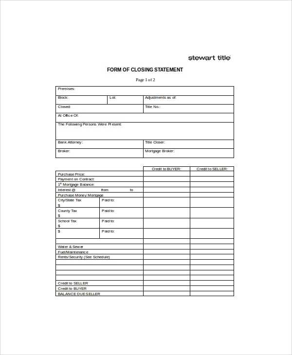 FREE 7 Sample Closing Statement Templates In MS Word PDF