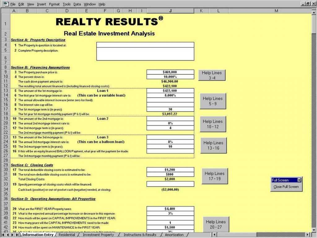 5 Free Real Estate Investment Analysis Excel Spreadsheet