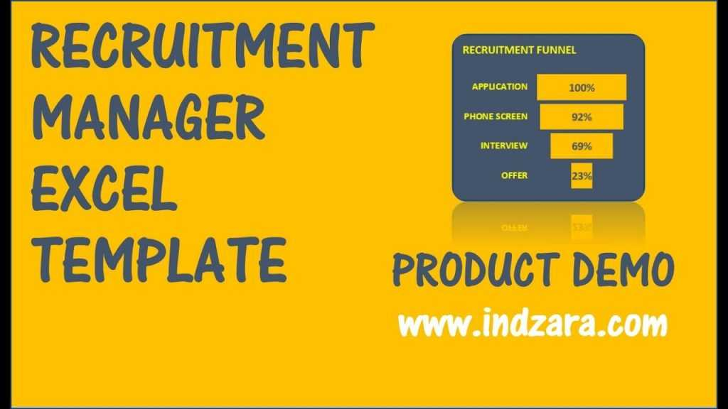 Recruitment Manager Excel Template V1 Product Demo YouTube