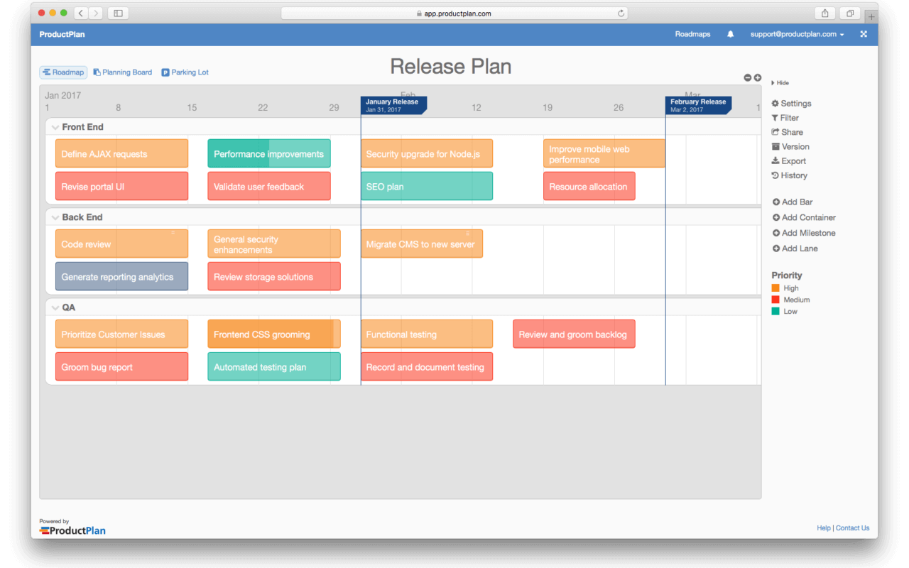 Release Plan Template