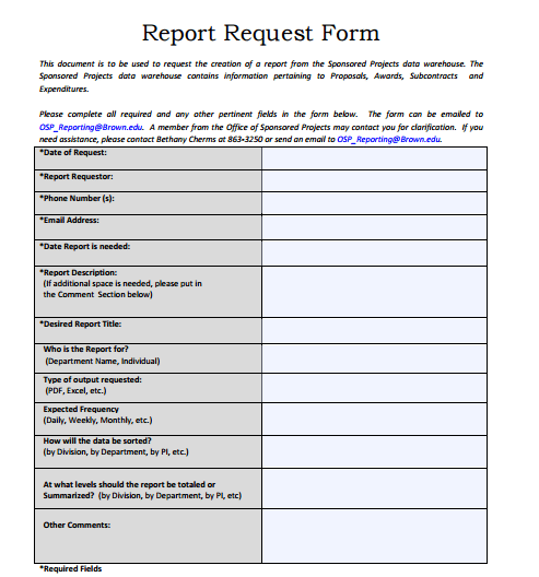 5 Request Form Templates Formats Examples In Word Excel