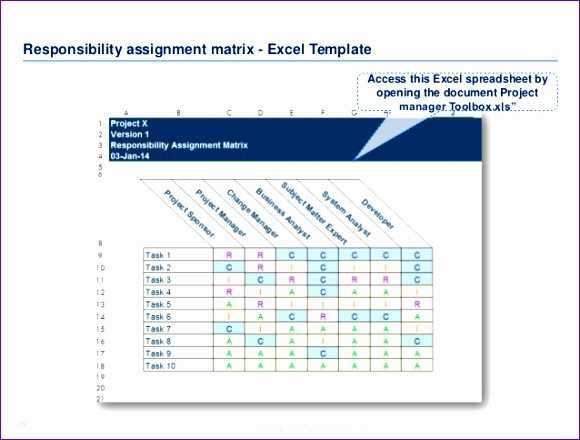 10 Responsibility Assignment Matrix Excel Template Excel