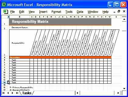 9 Responsibility Assignment Matrix Template Excel Excel