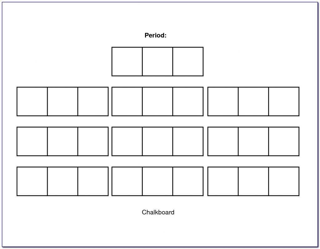 Restaurant Seating Chart Template Excel