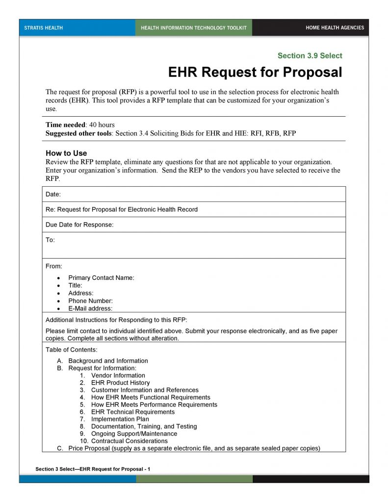 40 Best Request For Proposal Templates Examples RPF
