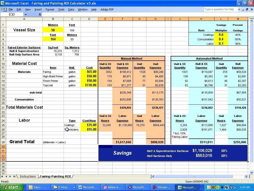 Roi Excel Template Shatterlion info