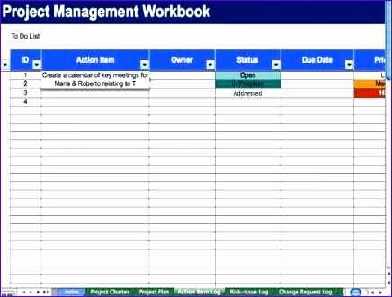 8 Rolling Action Item List Template Excel Excel