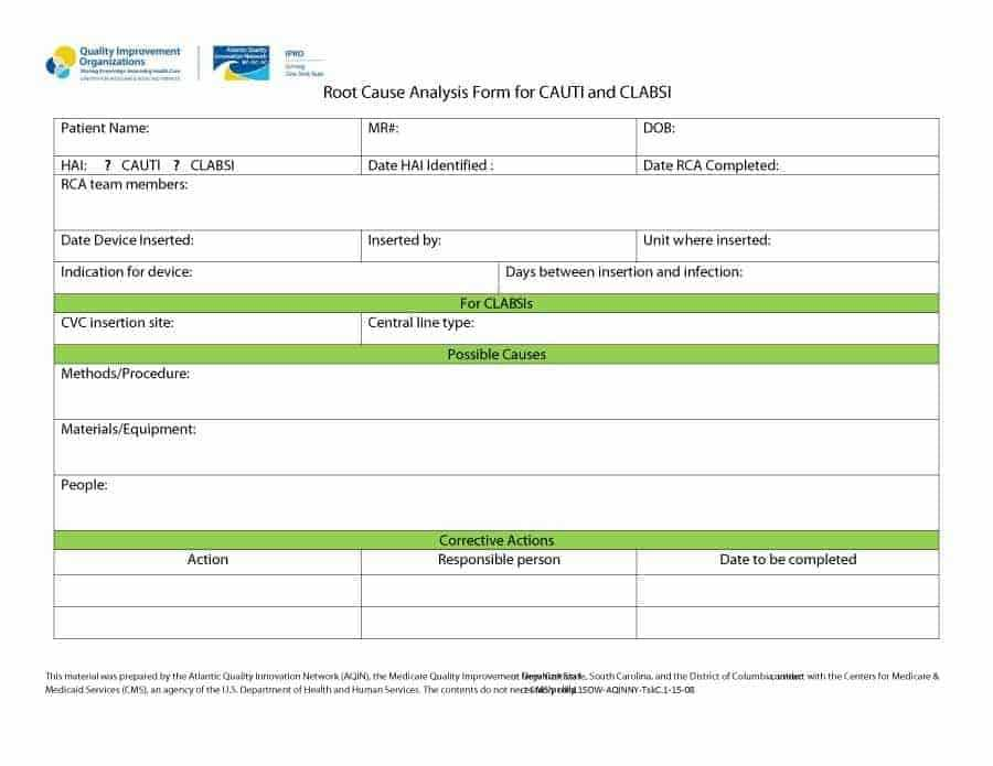 13 Root Cause Analysis Templates Word Excel Samples