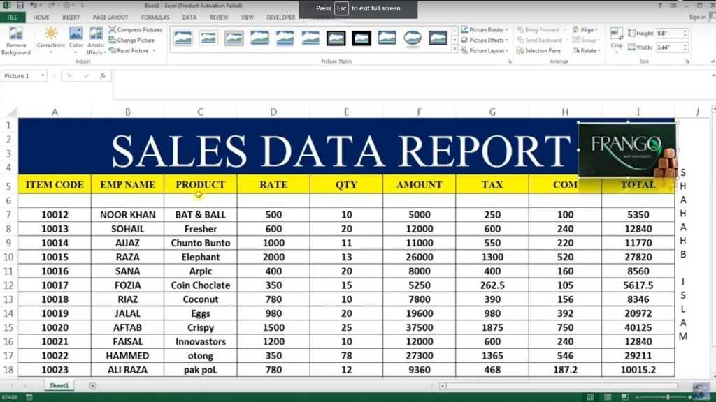 HOW TO MAKE SALES REPORT IN EXCEL 26 YouTube
