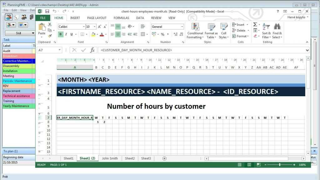 Create Excel Schedule Templates From The Planning Software