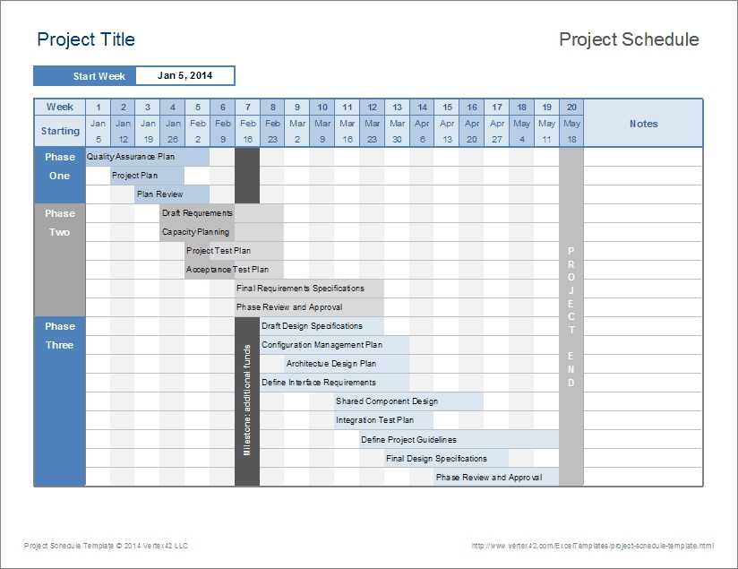 Project Schedule Template Excel Task List Templates