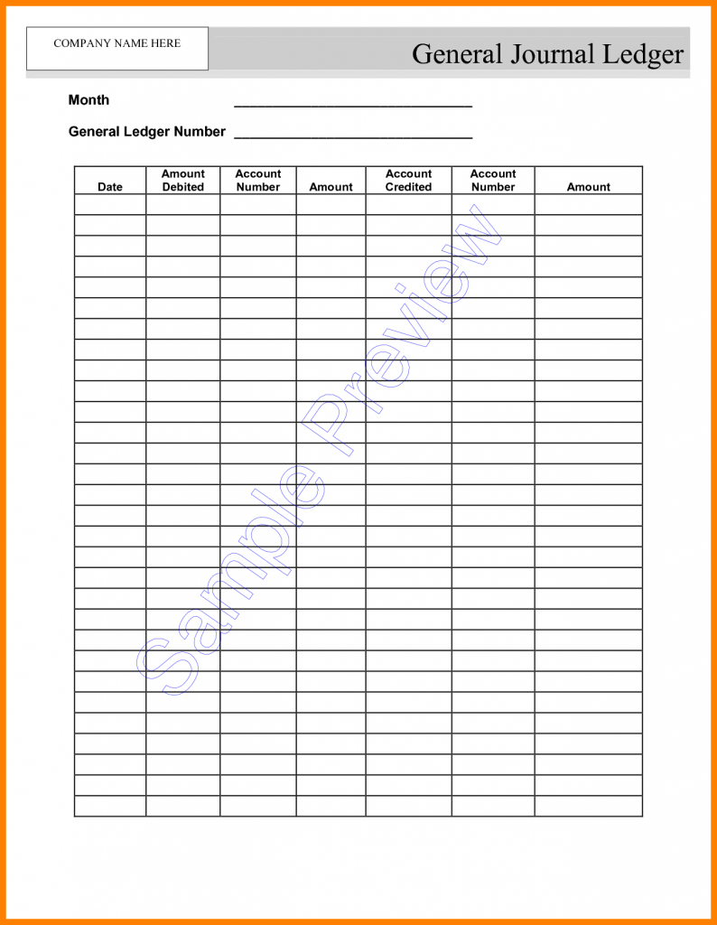 5 Self Employment Ledger Template Excel Ledger Review