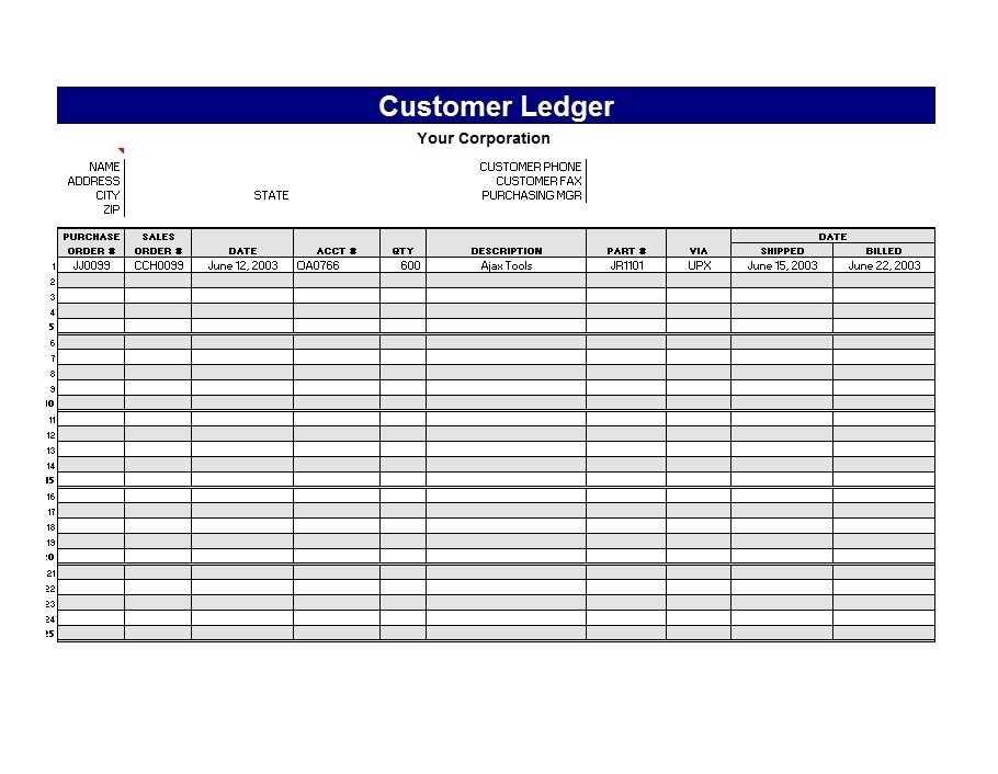 Self Employment Ledger Template Excel FREE DOWNLOAD