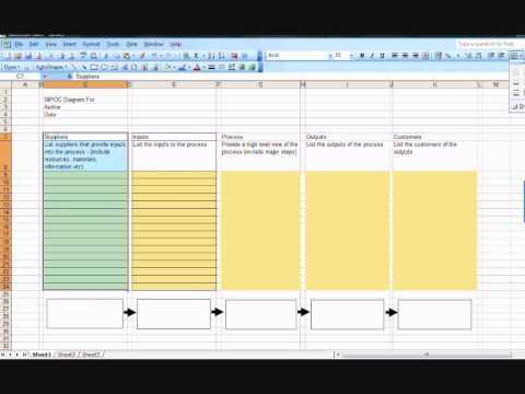 SIPOC Diagram Creating A Template In Excel YouTube