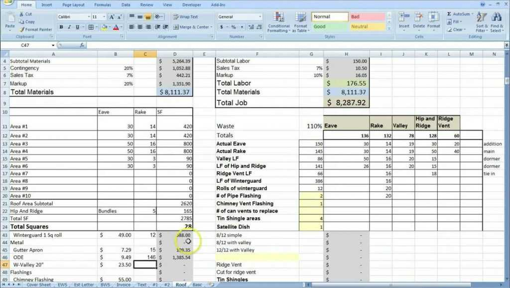 Software Estimation Spreadsheet In Software Cost