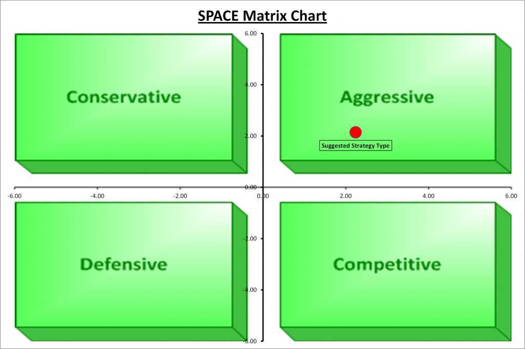 The Business Tools Store SPACE Matrix Chart Excel Template