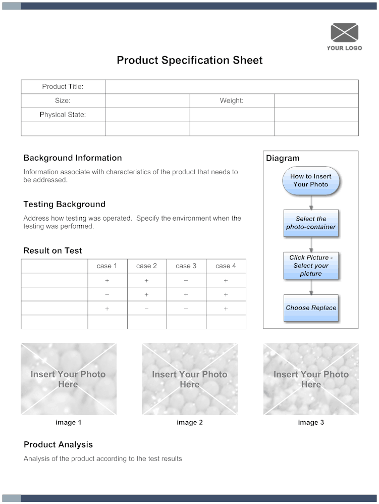 5 Free Specification Sheet Templates Word Excel PDF