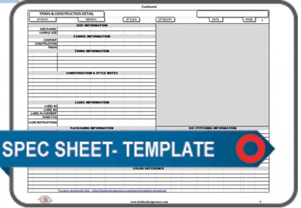Download The Templates Documents And Forms Apparel Spec