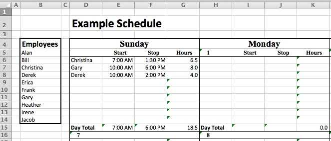 Staff Roster Template Excel Free Task List Templates