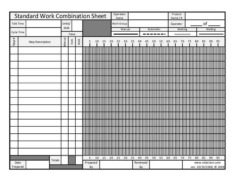 Standard Work Combination Sheet FREE DOWNLOAD AVAILABLE