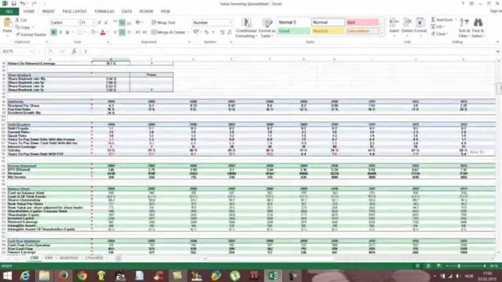 Printable Free Excel Stock Spreadsheet How To Use Youtube