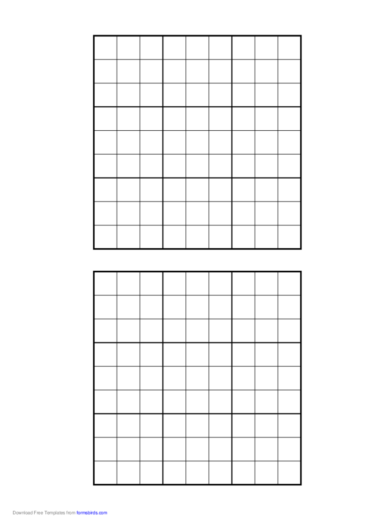 Printable Sudoku Grids 2 Free Templates In PDF Word