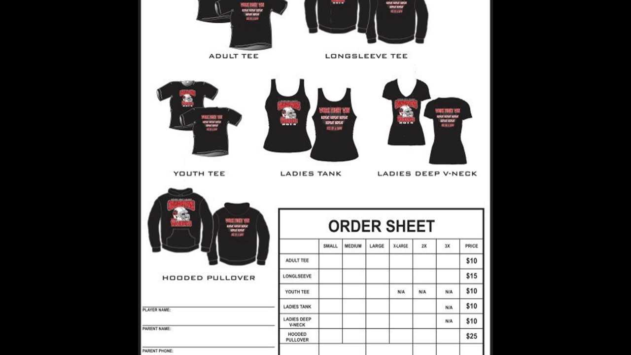 T Shirt Order Form Template Excel YouTube