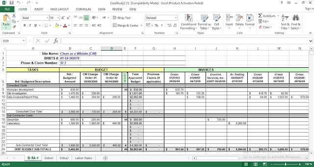 Project Cost Tracking Excel Template