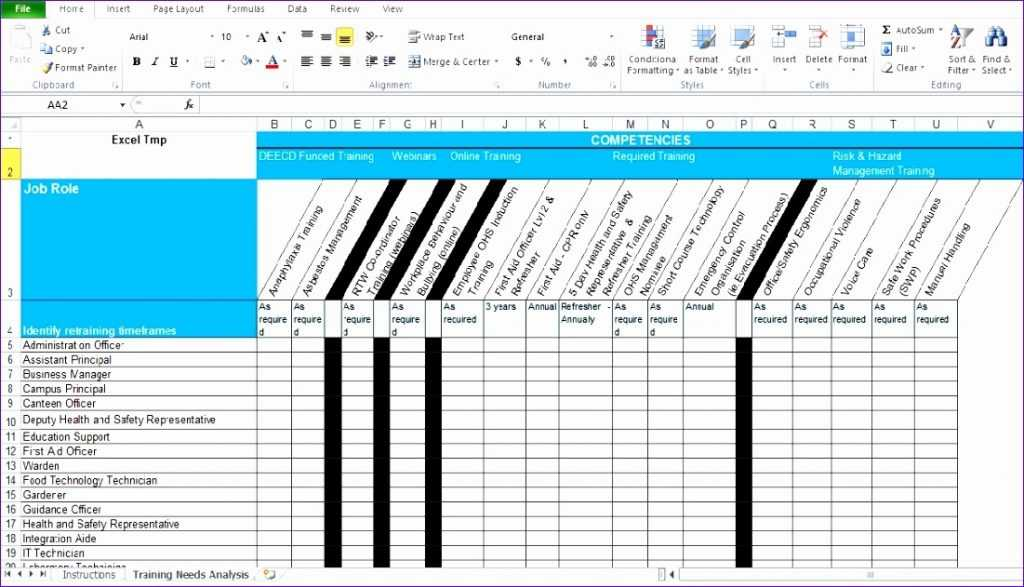 10 Training Matrix Excel Template Excel Templates