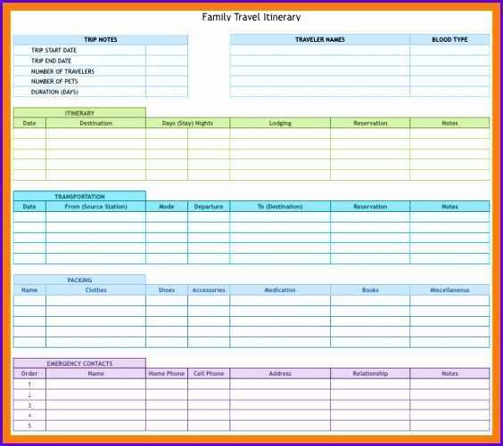 12 Travel Schedule Template Excel Excel Templates