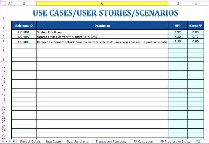 10 Use Case Template Excel Excel Templates Excel Templates