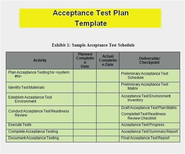 Free Collection User Acceptance Testing Excel Template