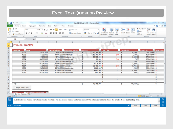 Free Excel Sample Questions Practise For Interview Excel Test
