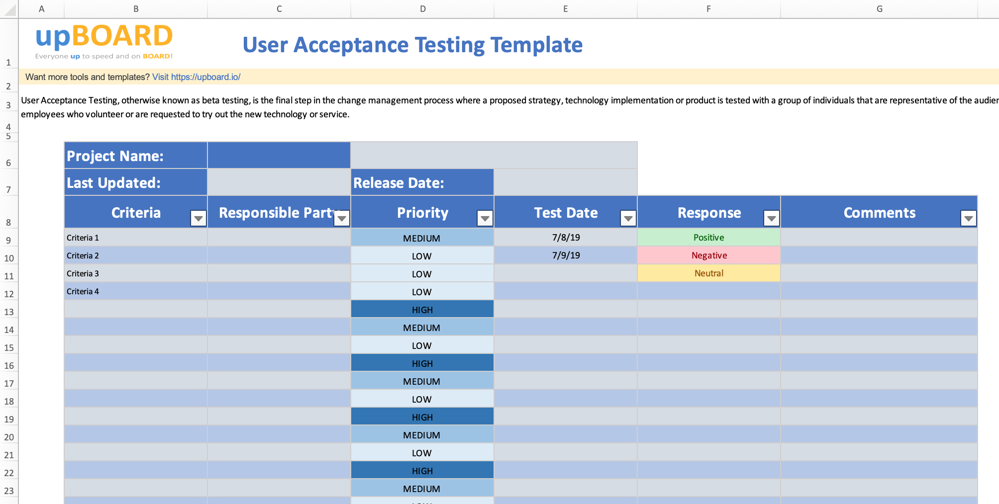 User Acceptance Testing Free Online Tools Templates