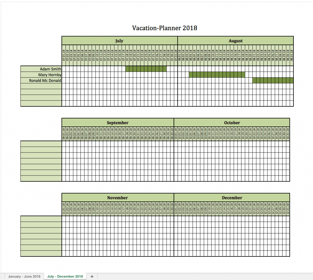 Vacation Planner 2018