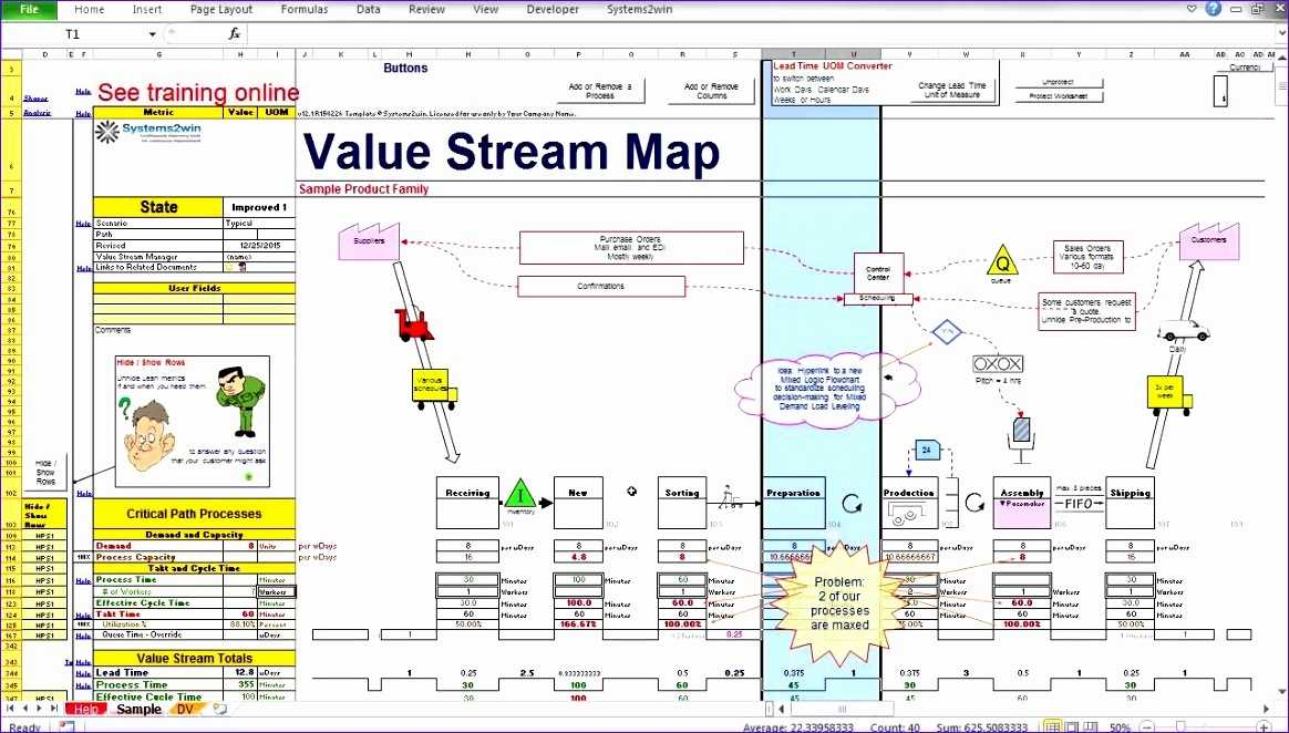 12 Value Stream Mapping Excel Template Excel Templates