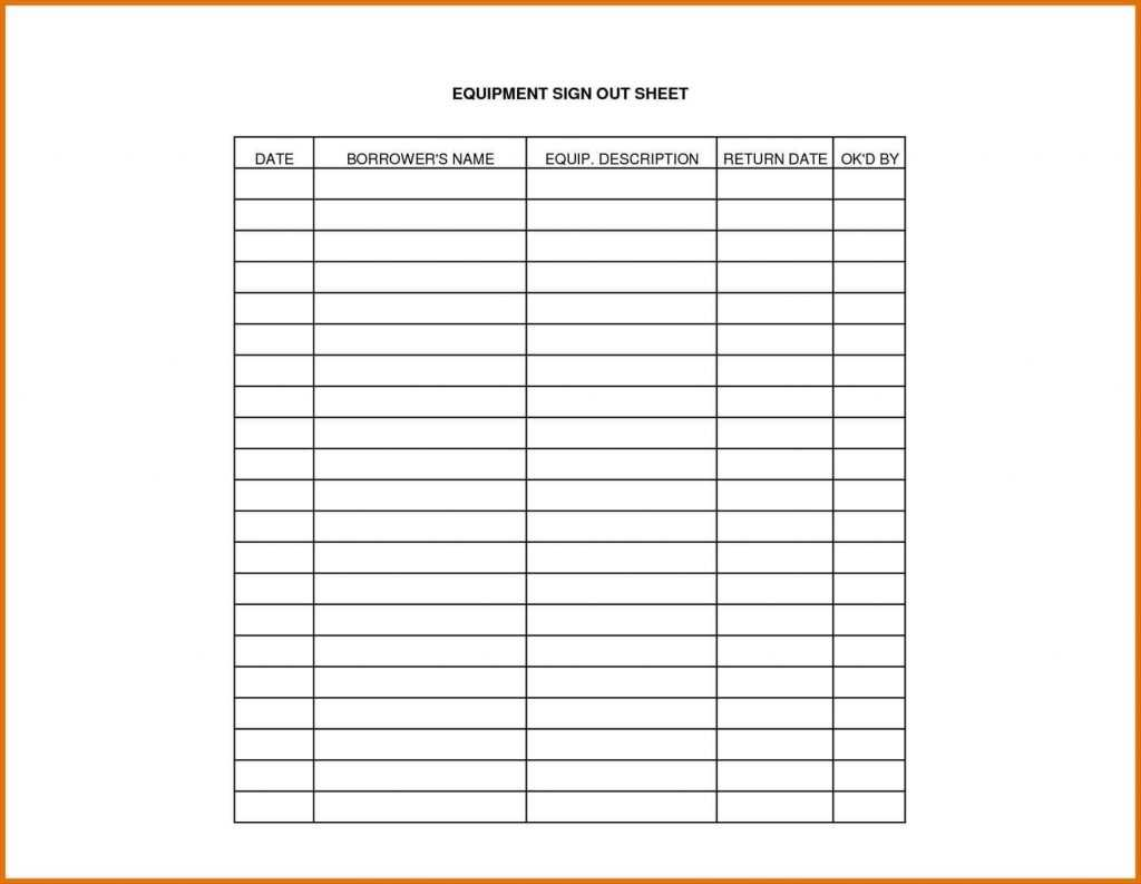 New Sign Out Sheet Template Word exceltemplate xls