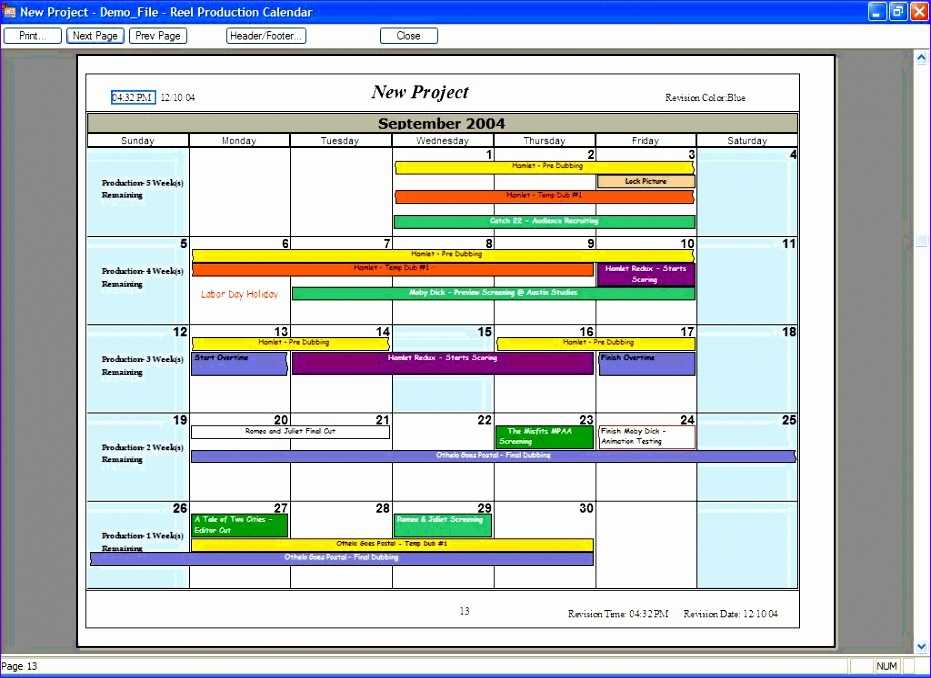 10 Excel Production Schedule Template Excel Templates