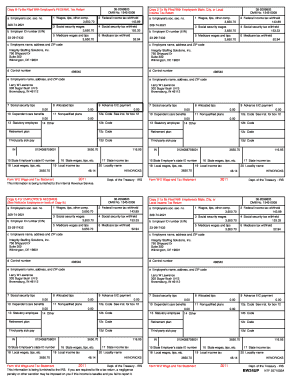 2008 W2 Form Fill Online Printable Fillable Blank