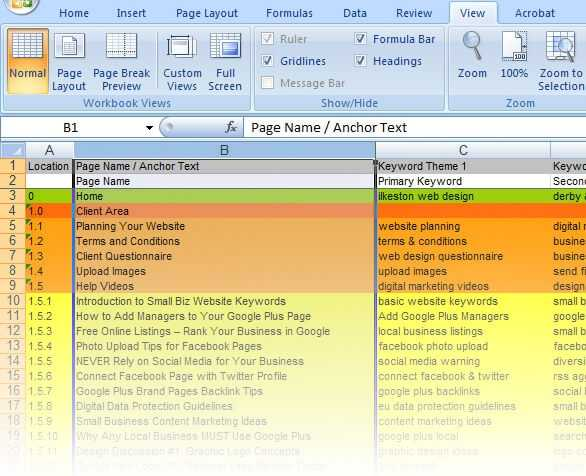 Plan Your Website On Page SEO Free Excel Template Video