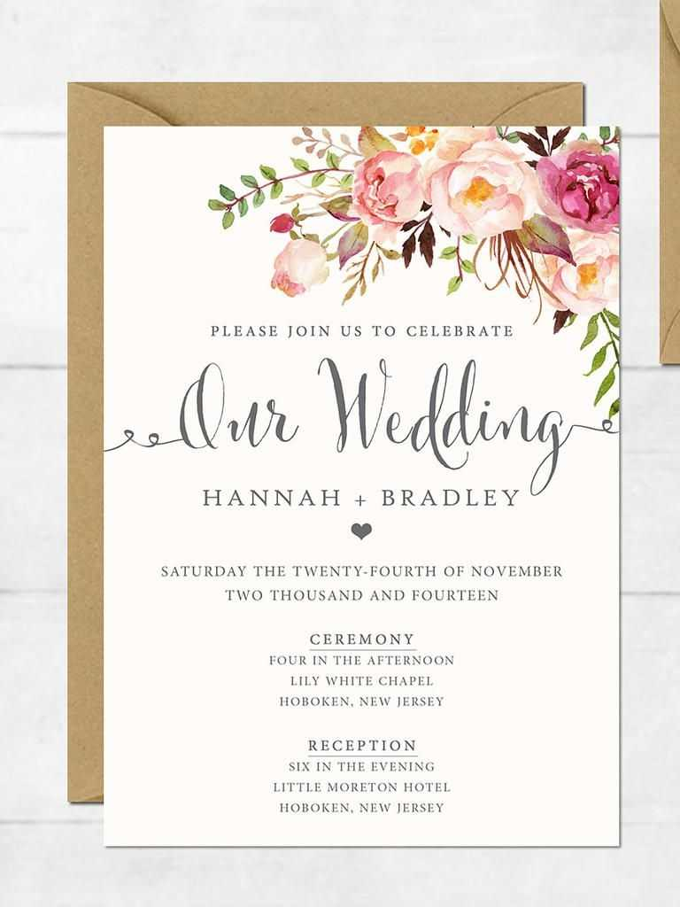 21 Wedding Invitation Templates You Can Personalize And