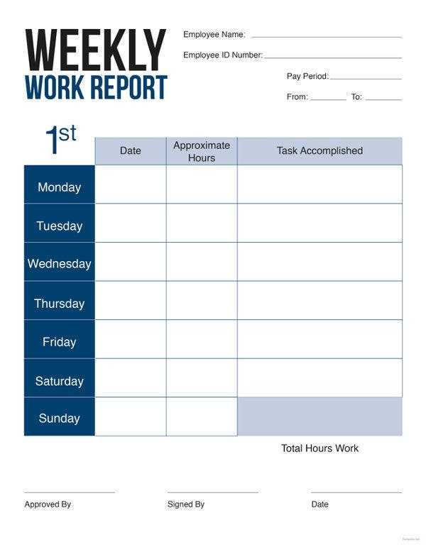 22 Weekly Report Templates In Word Free Premium Templates