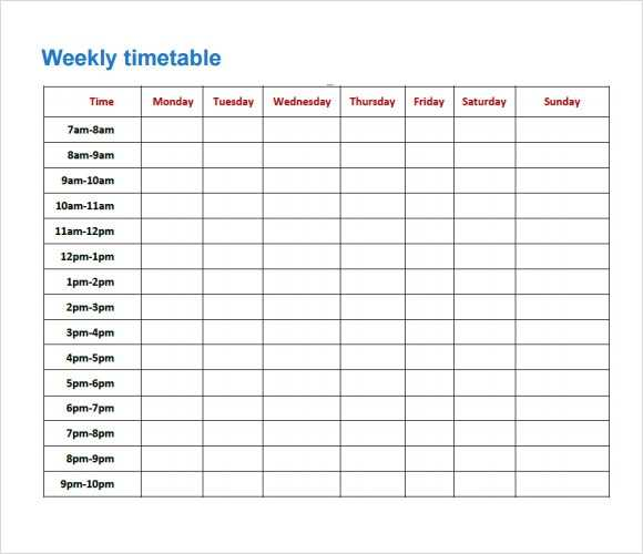 FREE 8 Sample Timetables In PDF Excel