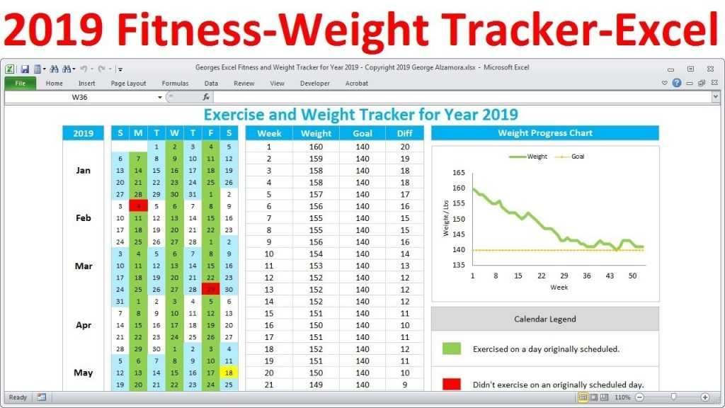 Fitness Tracker And Weight Loss Tracker For 2019 Workout