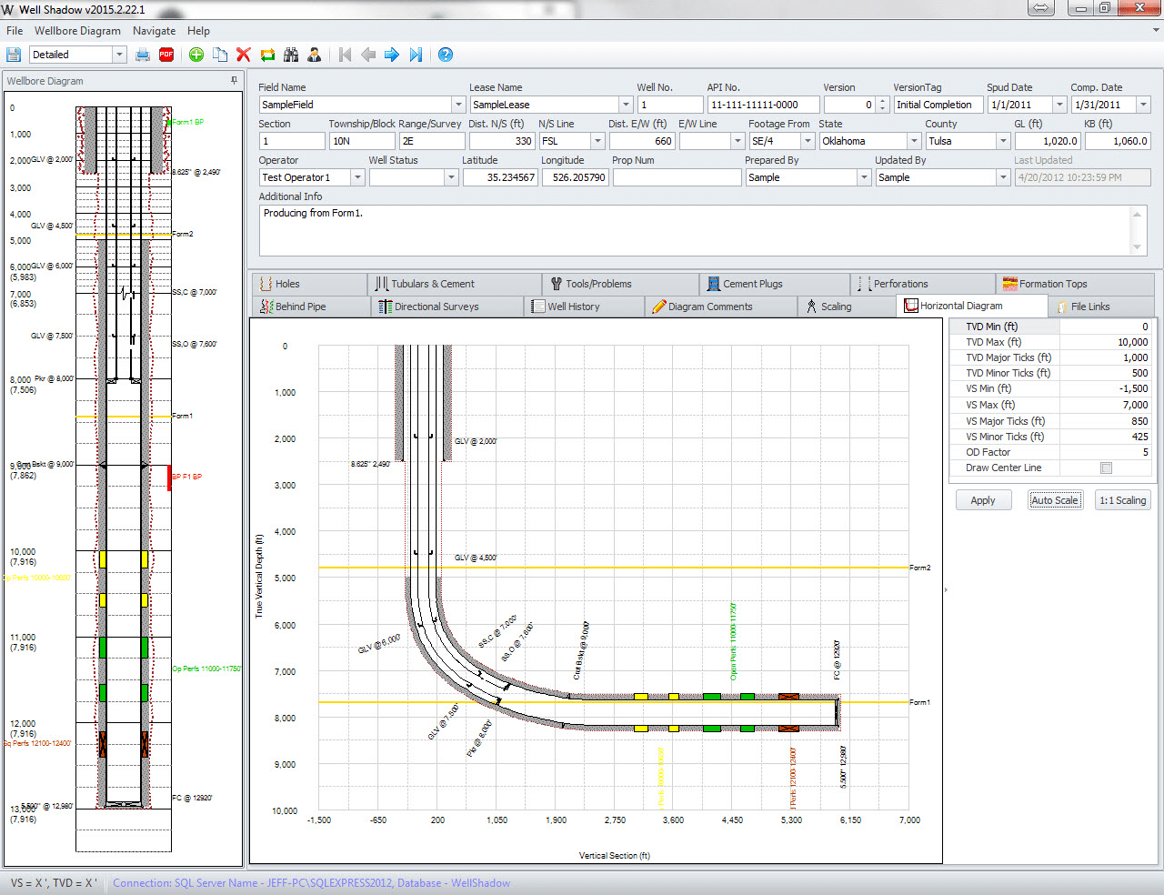 PetroCode Wellbore Diagram Software Application Well Shadow