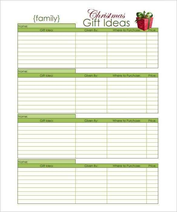 10 Christmas Wish List Templates Word Excel PDF