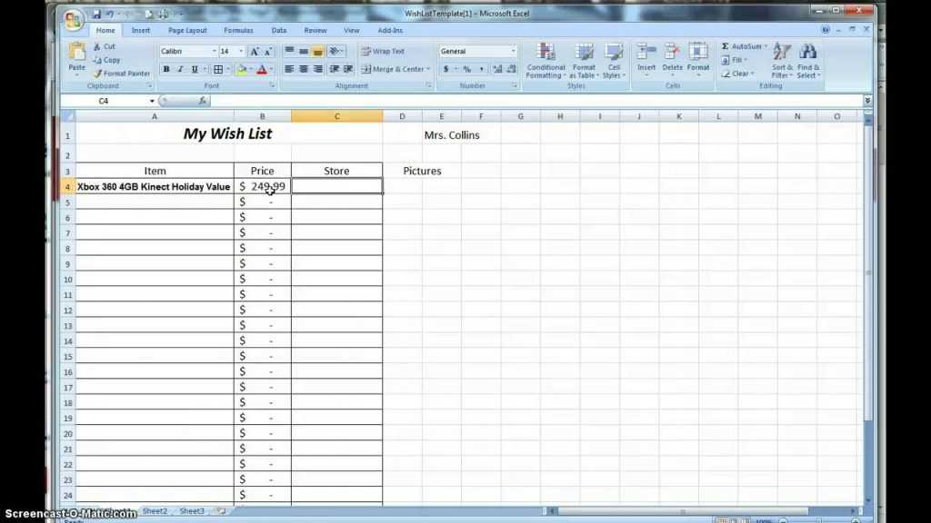 How To Make A Wish List Spreadsheet YouTube