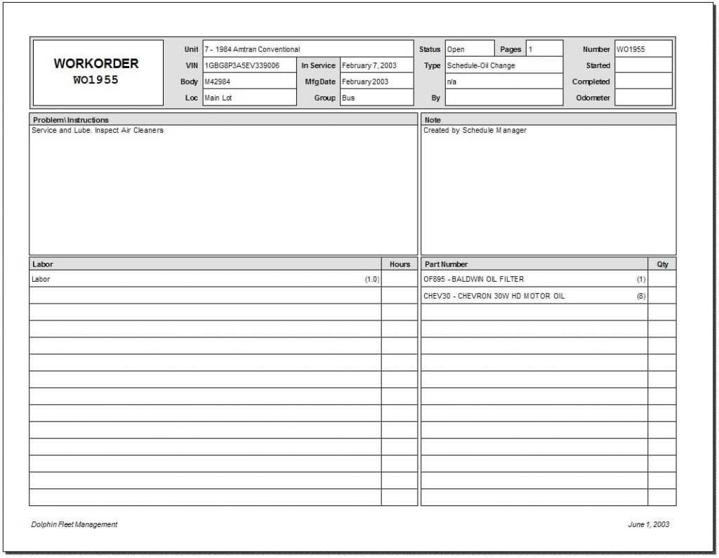 5 Work Order Templates Formats Examples In Word Excel