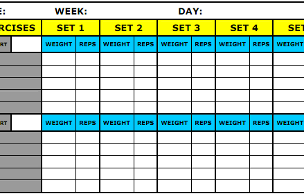 8 Best Workout Log Templates For Excel And Word