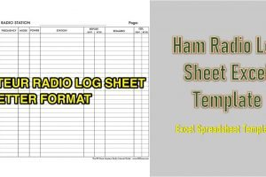 Ham Radio Log Sheet Excel Template